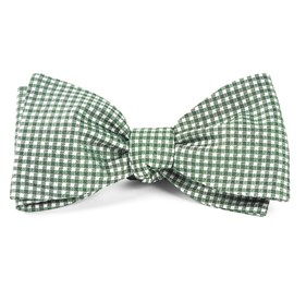 Hunter Green Bahama Checks bow ties
