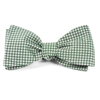 bahama checks hunter green bow ties