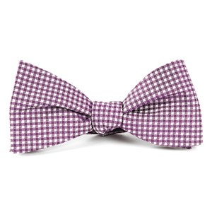 bahama checks plum bow ties