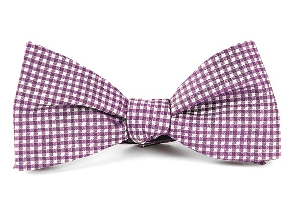 Bahama Checks Plum Bow Tie