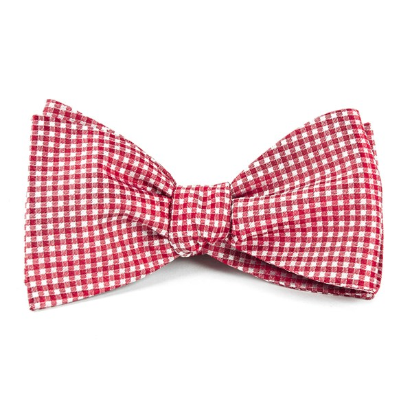 Red Bahama Checks Bow Tie