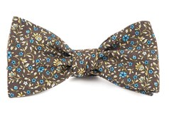 Bow Ties - Peninsula Floral - Brown