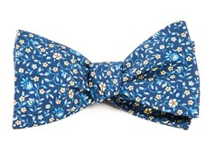 Bow Ties - Peninsula Floral - Navy
