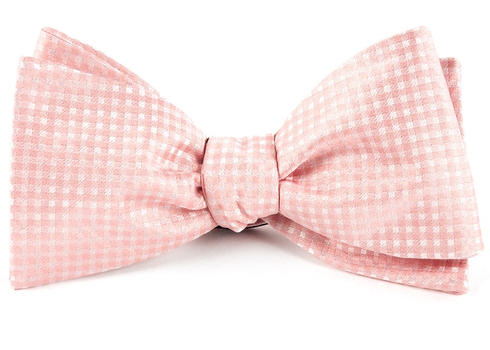 Be Married Checks Bow Ties - Blush Pink | Ties, Bow Ties, and ...