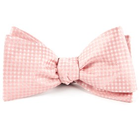 Blush Pink Be Married Checks bow ties