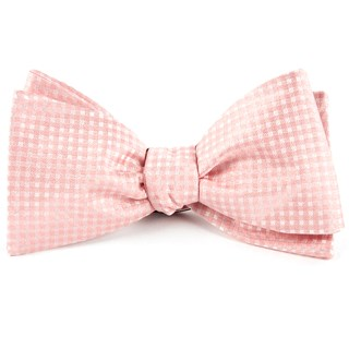 be married checks blush pink bow ties