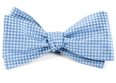Bow Ties - Be Married Checks - Light Blue