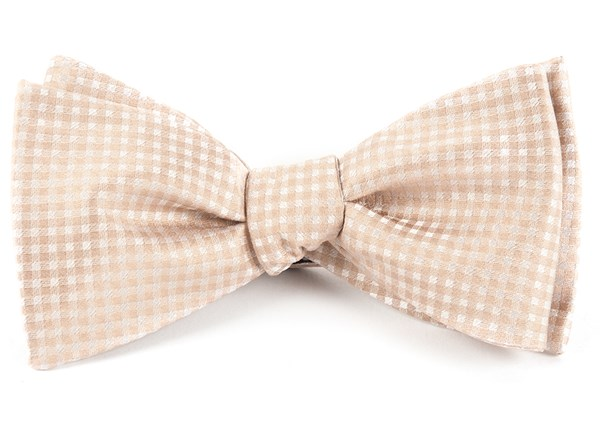 Be Married Checks Champagne Bow Tie
