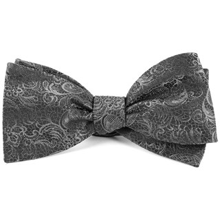 Ceremony Paisley Charcoal Bow Tie
