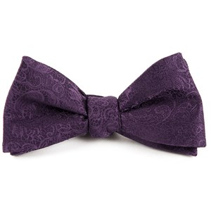 ceremony paisley eggplant bow ties