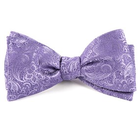 Lilac Ceremony Paisley bow ties