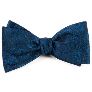 Ceremony Paisley Navy Bow Tie