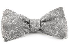 Bow Ties - Ceremony Paisley - Silver