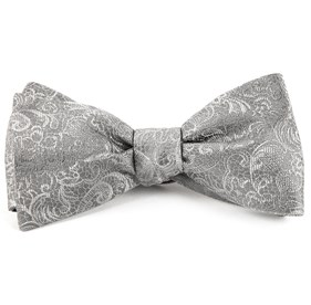 Silver Ceremony Paisley bow ties