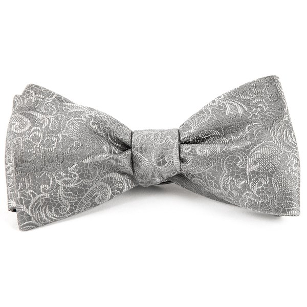 Silver Ceremony Paisley Bow Tie