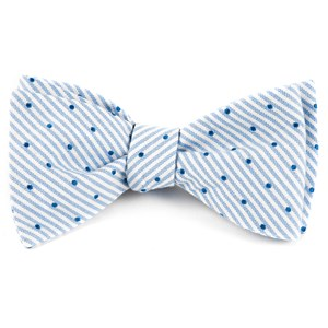 down the aisle dots classic blue bow ties