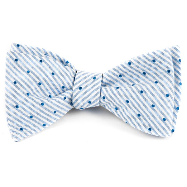 Classic Blue Down The Aisle Dots Bow Tie