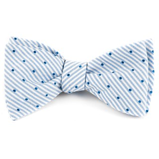 Down The Aisle Dots Classic Blue Bow Tie