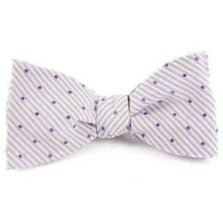 Down The Aisle Dots Lavender Bow Tie