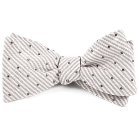 Silver Down The Aisle Dots bow ties