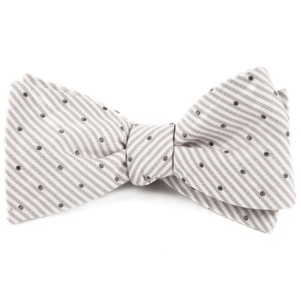 Silver Down The Aisle Dots Bow Tie
