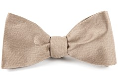 BOW TIES - MELANGE TWIST SOLID - CHAMPAGNE