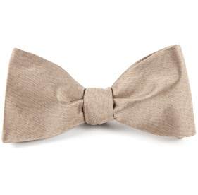 Champagne Melange Twist Solid bow ties