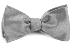 BOW TIES - MELANGE TWIST SOLID - SILVER