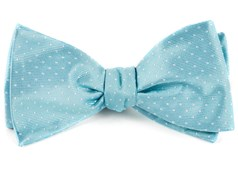 Bow Ties - Mini Dots - Pool Blue
