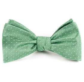 Mint Mini Dots bow ties