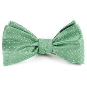 mini dots mint bow ties
