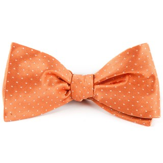 mini dots tangerine bow ties