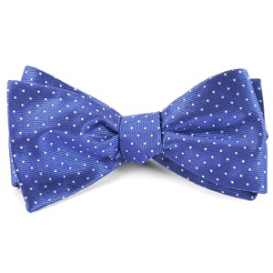 mini dots periwinkle bow ties