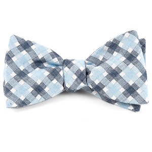 plaid bliss sky blue bow ties