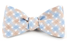 Bow Ties - Plaid Bliss - Light Champagne