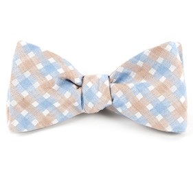 Light Champagne Plaid Bliss bow ties