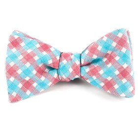 Plaid Bliss Red Bow Ties