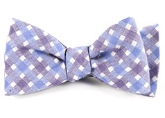 Bow Ties - Plaid Bliss - Violet