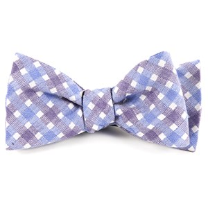 plaid bliss violet bow ties