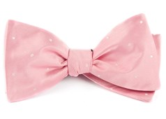 Bow Ties - Satin Dot - Baby Pink