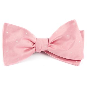 satin dot baby pink bow ties