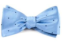 Bow Ties - Satin Dot - Light Blue