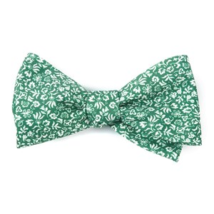 habitat bloom clover green bow ties