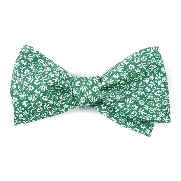 Clover Green Habitat Bloom Bow Tie