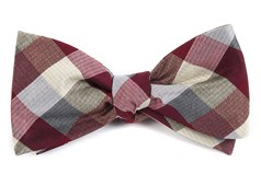 Bow Ties - Pitch Plaid - Burgundy