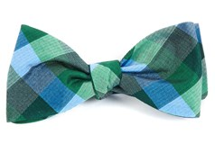 BOW TIES - PITCH PLAID - KELLY GREEN