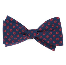 Navy Major Star bow ties