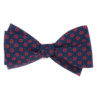 major star navy bow ties