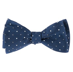 Navy Jpl Dots bow ties