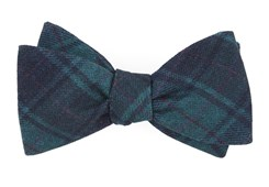 Bow Ties - Merchants Row Plaid - Green Teal
